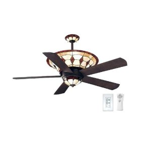 Ceiling Fan Tiffany: Ellington Manchester 54-Inch Five-Blade Fan,Lighting