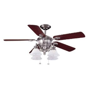 52 inch brushed nickel bellhaven ceiling fan aloadofball