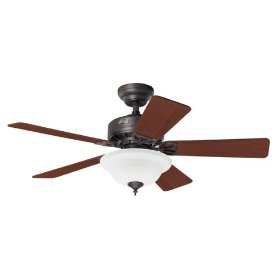 Hunter Auberville 44-Inch New Bronze Fan with Light Kit