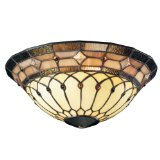 Kichler Lighting Tiffany Universal Art Glass Ceiling Fan Light Kit Bowl