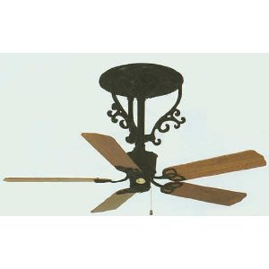 Americana Short Neck Black Ceiling Fan