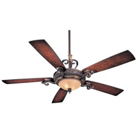 "56"" Minka Aire Napoli Walnut Finish Ceiling Fan"
