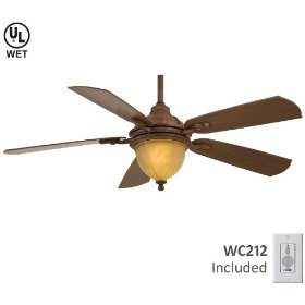 Minka Harrison Outdoor Vintage Rust Ceiling Fan