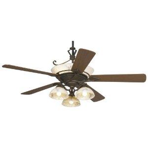 60 Casa Epoch Black Gl Light Ceiling Fan