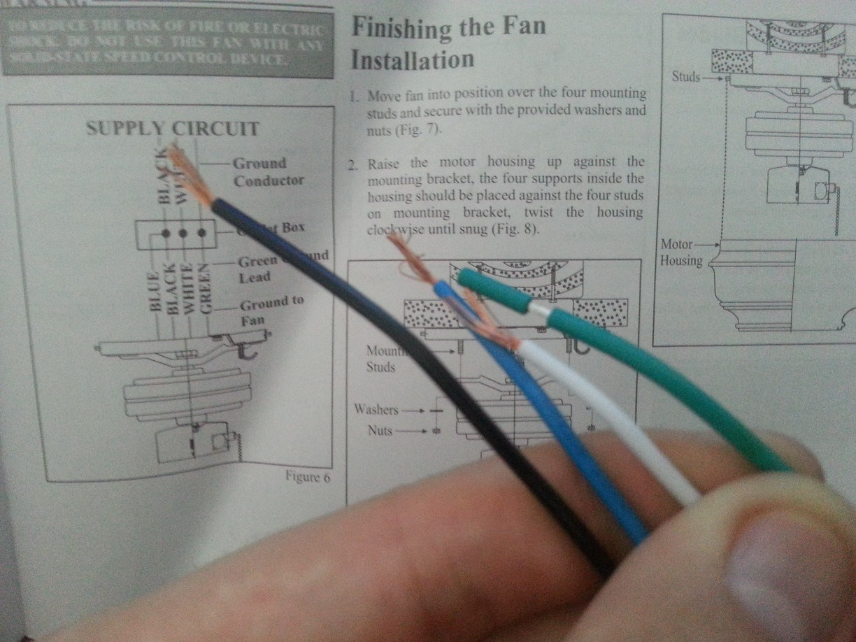 Ceiling Fan Wiring Instructions  Electrical Wiring For