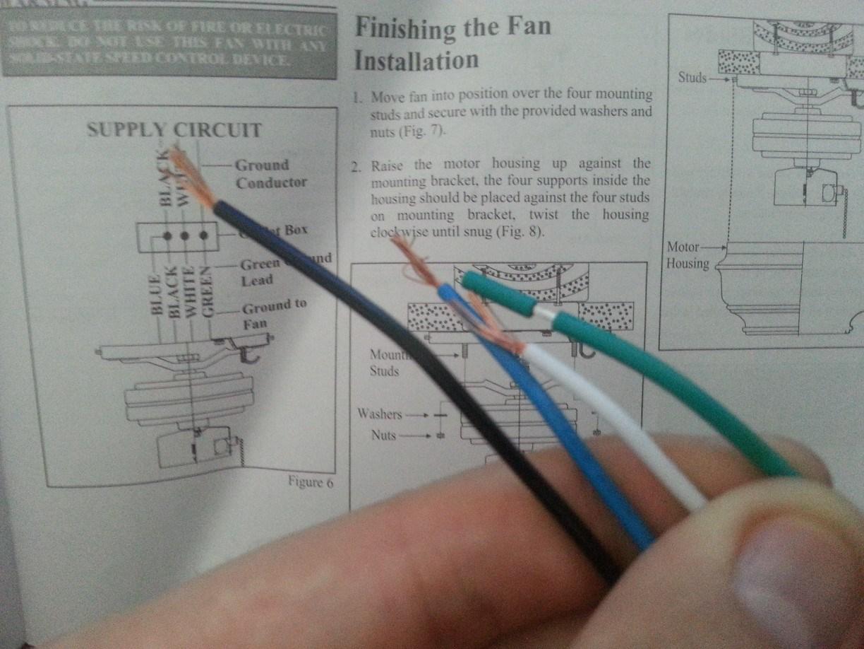 Ceiling Fan Hook Up Instructions