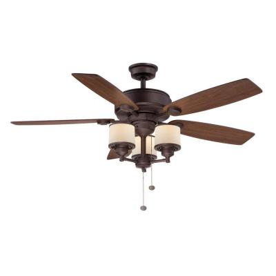 Gazebo II 52 In. Indoor/Outdoor Natural Iron Ceiling Fan