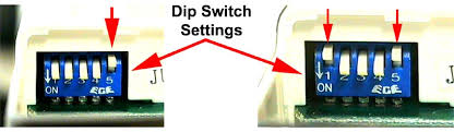 Ceiling Fan Dip Switches